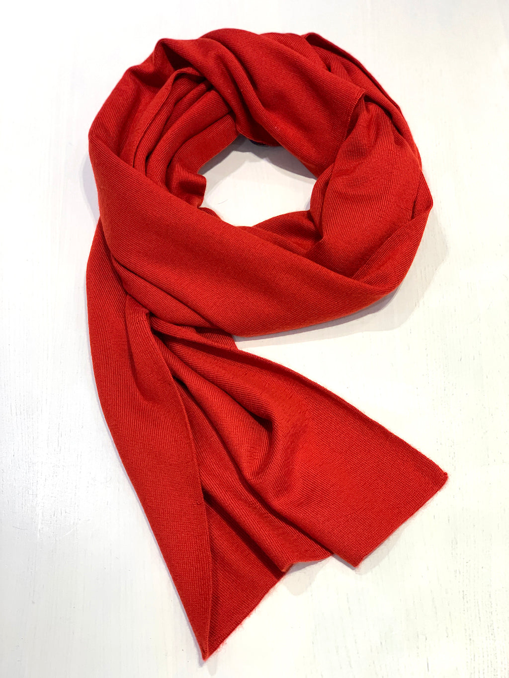 100% Cashmere Scarf - Festive Red