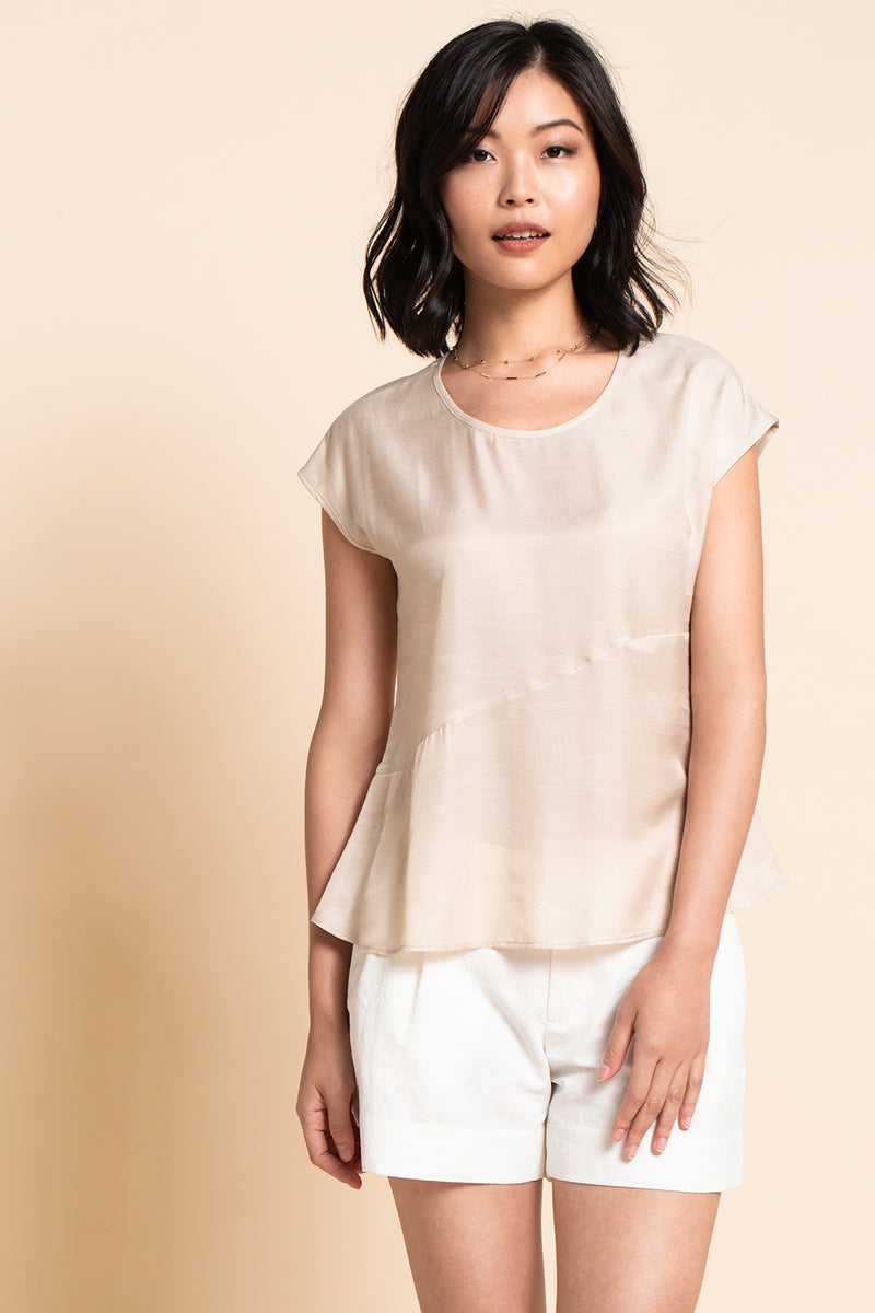 Floaty Blouse - Champagne