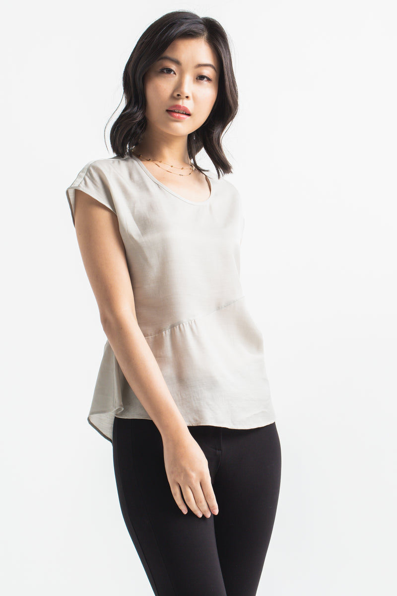 Floaty Blouse - Silver
