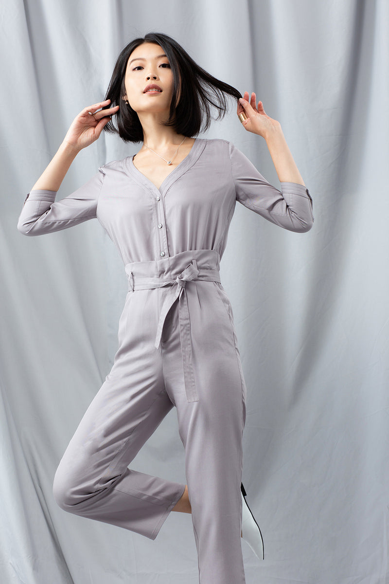 Jumpsuit - Grey Pearl