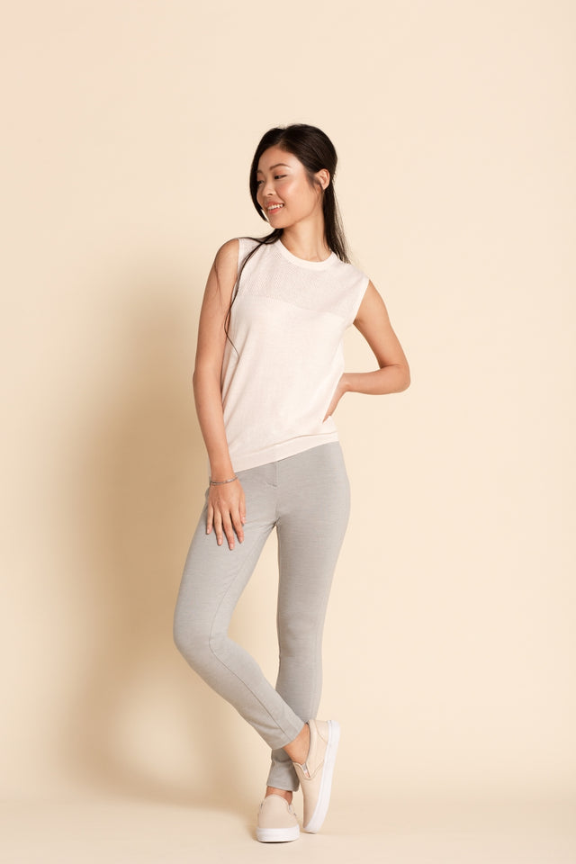 Hybrid Legging v2 - Light Grey