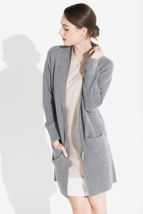 Long Zipped Jacket - Pewter