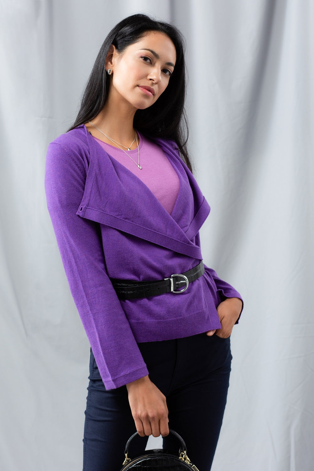 MVP Multi-way Cardigan - Violet