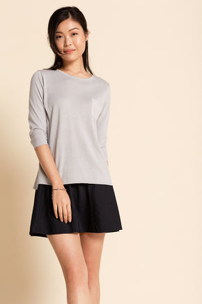 Patch Pocket Pullover - Grey Pearl