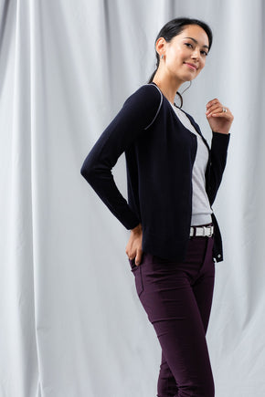 Pointelle Cardigan - Black