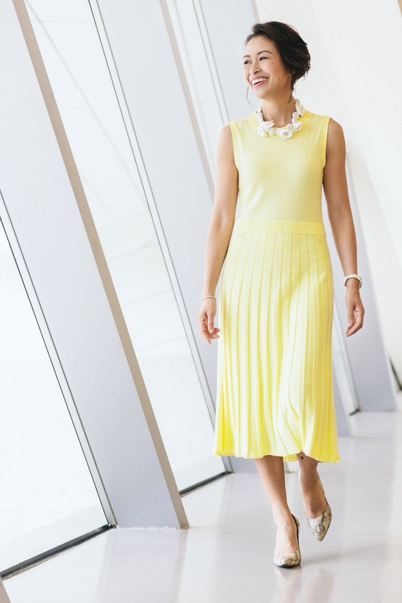 Pointelle Midi Dress - Morning Sun