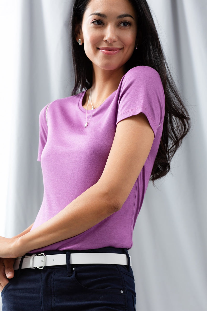 Pointelle Jersey Tee - Violet