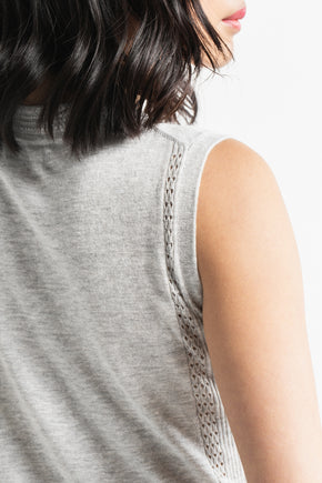 Pointelle Tunic - Grey Pearl