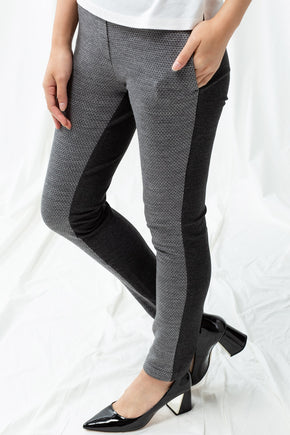 Pull-On Skinny Chino - Grey Jacquard