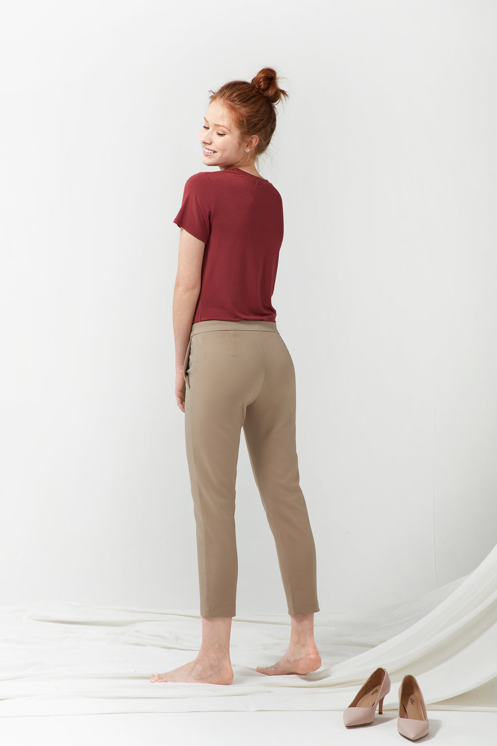 Pull-on Slim Chino - Khaki