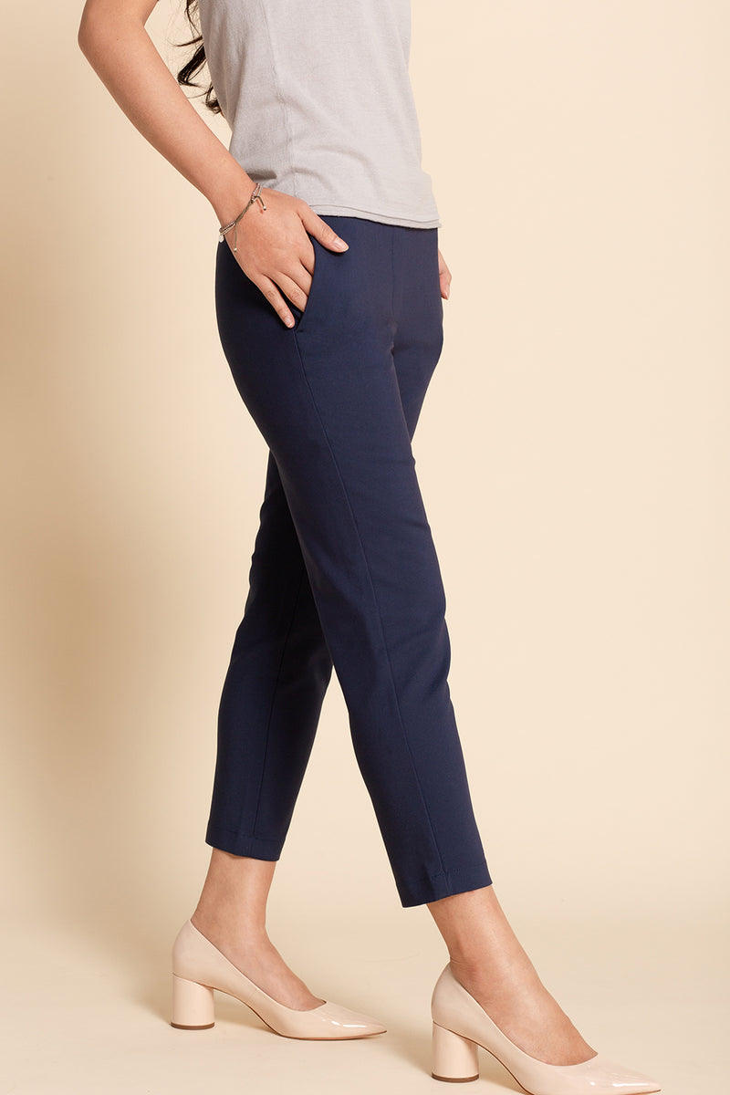 Pull-on Slim Chino - Dark Blue