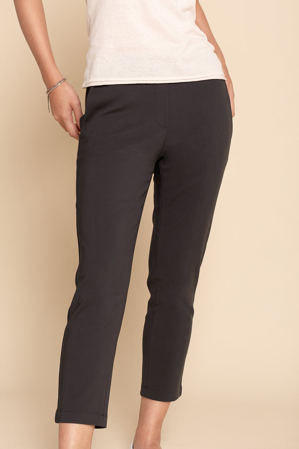 Pull-on Slim Chino - Charcoal