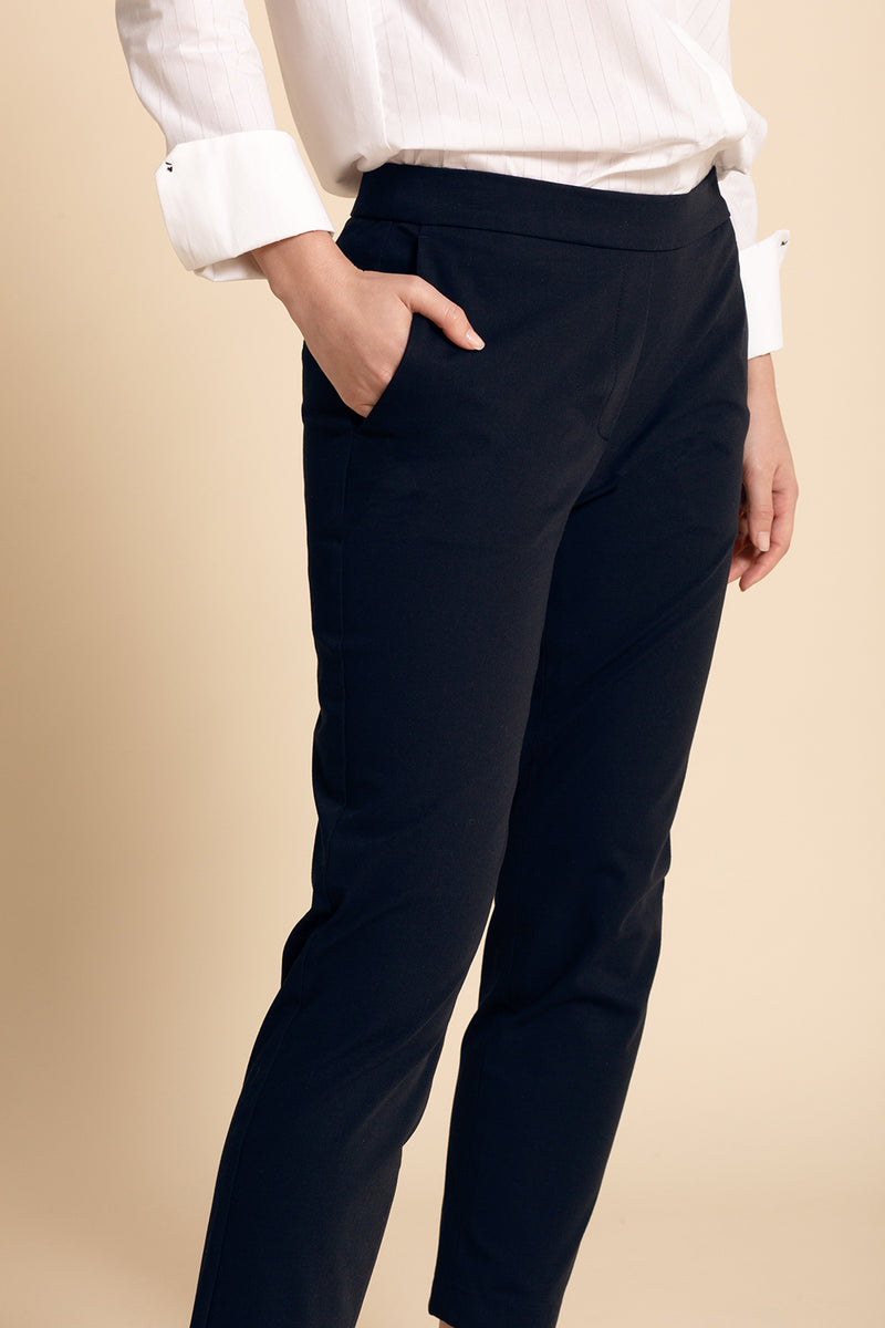 Pull-on Slim Chino (Tall) - Navy