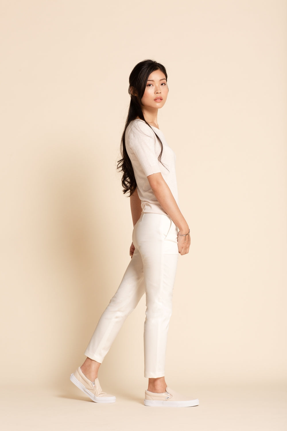 Pull-on Slim Chino - Vanilla (Tall)