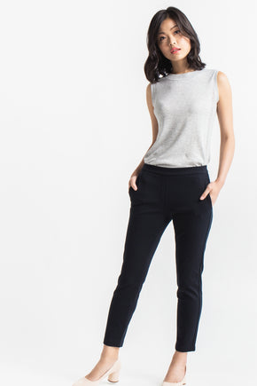 Pull-on Slim Chino - Black (Tall)