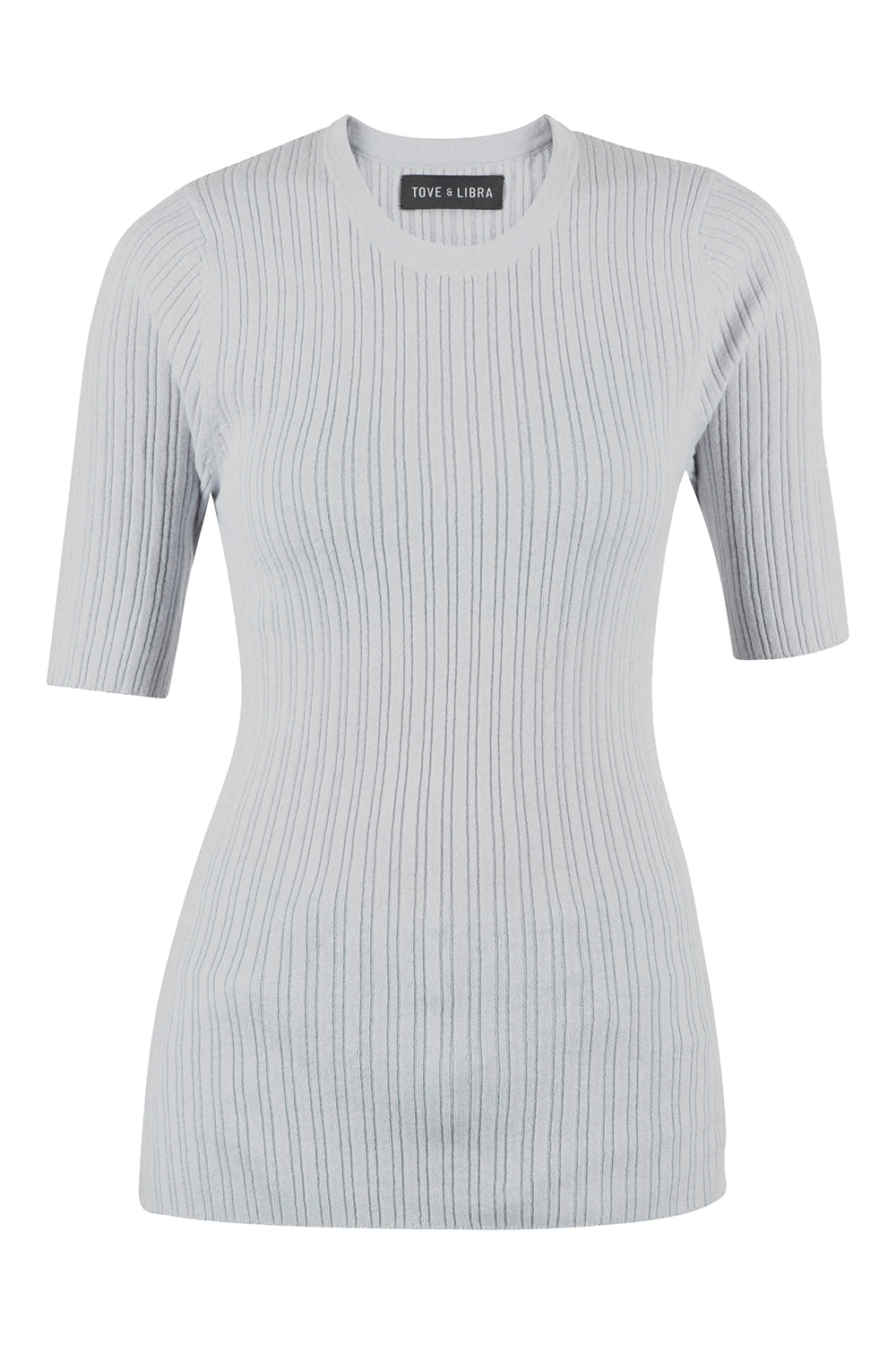 Essential Ribbed Tee - Grey Pearl
