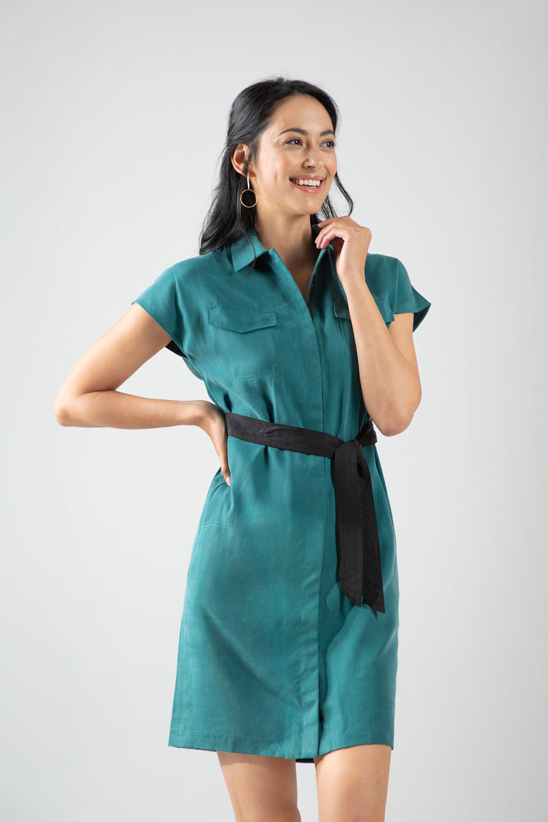 Safari Shirtdress - Emerald
