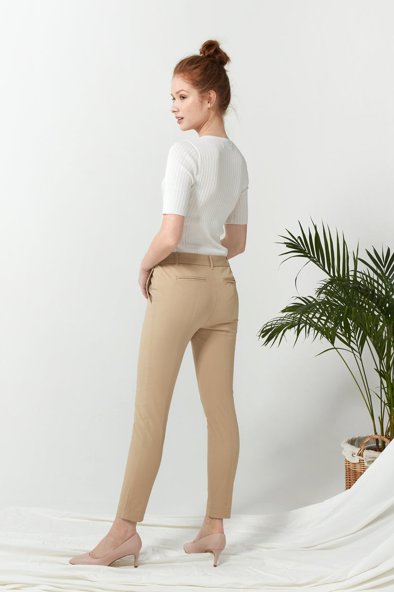 Seamed Pant - Camel