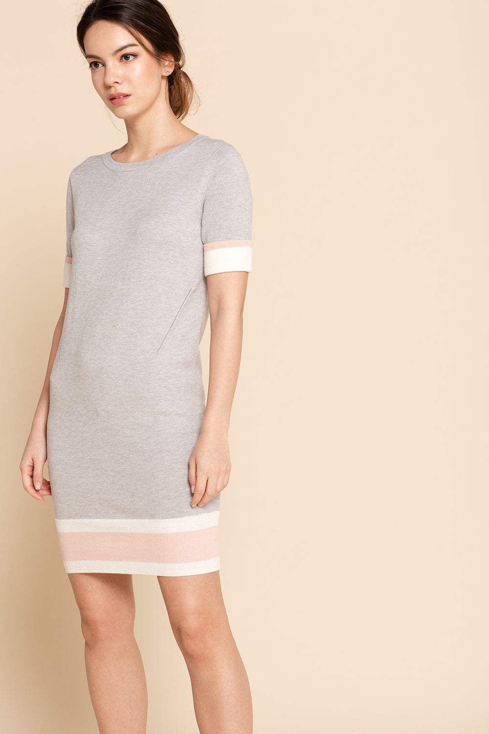 Colorblock Shift Dress - Stripe