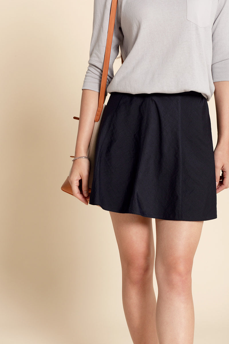 A-line Miniskirt - Midnight