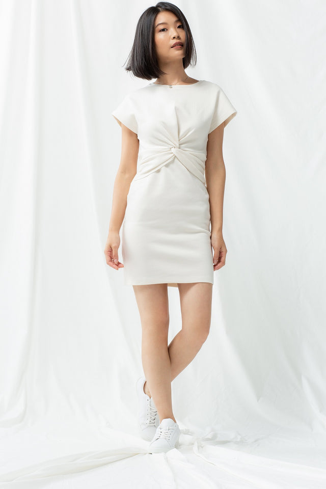Knotted Dress - Snow