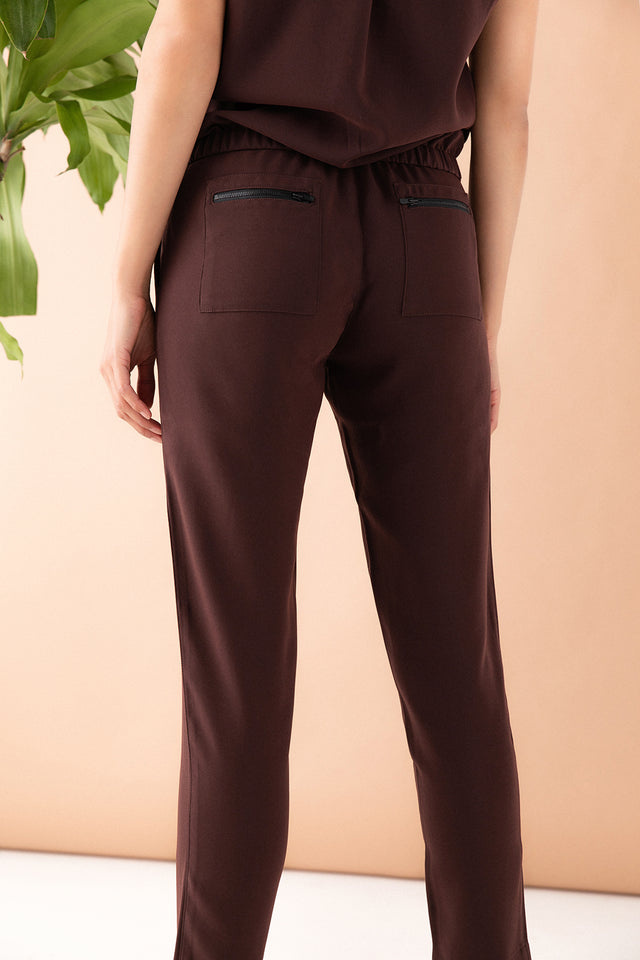 Drawstring Utility Pant - Chocolate