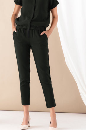 Drawstring Utility Pant - Forest Green