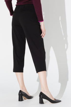 Wide Cropped Pant - Black