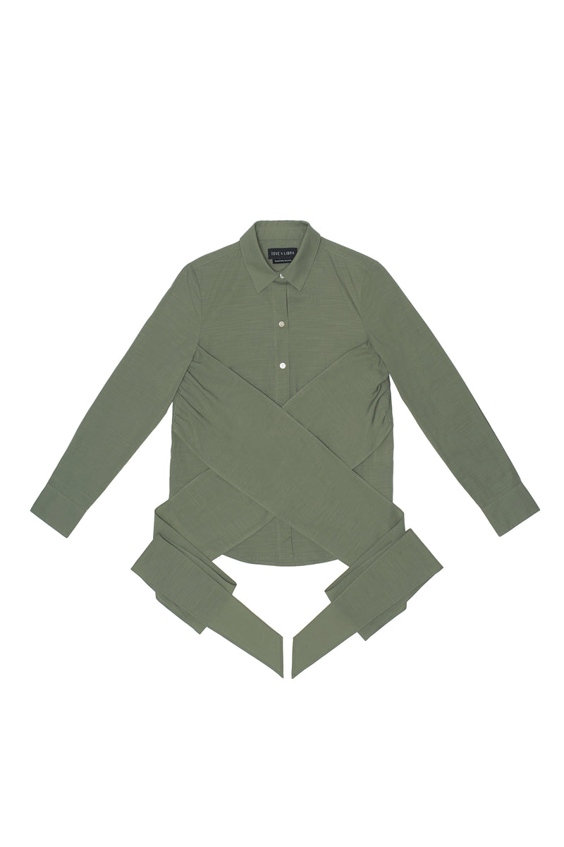 Wrapped Shirt - Sage