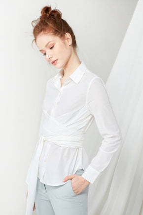 Wrapped Shirt - White