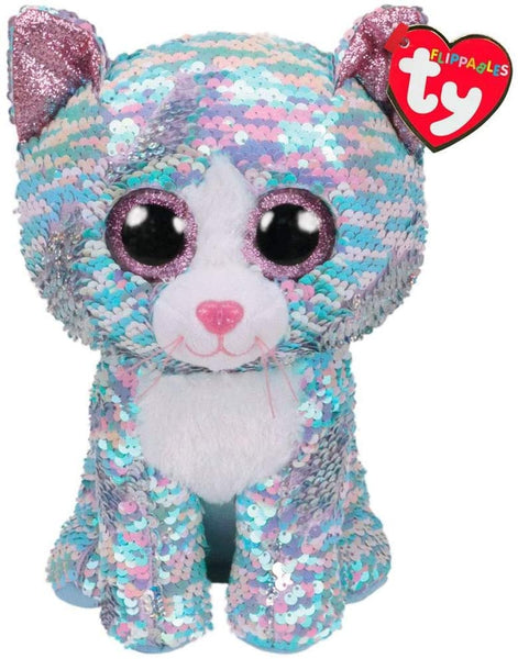 Ty - Whimsy (Sequin Blue Cat) Medium 9""