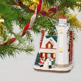 Hallmark Keepsake Christmas Ornament 2019 Year Dated Holiday Lighthouse with Light