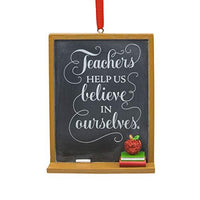HMK Hallmark Teacher Blackboard Tree Trimmer Ornament