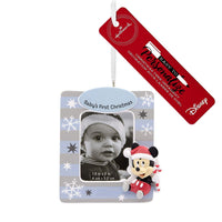 Hallmark Christmas Ornaments, Disney Mickey Mouse Baby's First Christmas Personalized Picture Frame Ornament