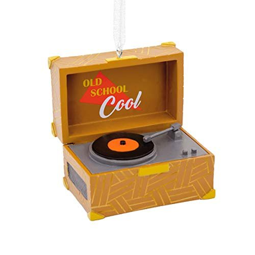 HMK Hallmark Vinyl Record Player Tree Trimmer Ornament