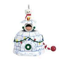 Hallmark Keepsake Christmas Ornament 2019 Year Dated Sledding Shenanigans Penguins,