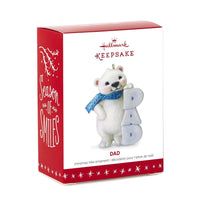 Hallmark Keepsake Ornament: Grandson Polar Bear in Snow Tube
