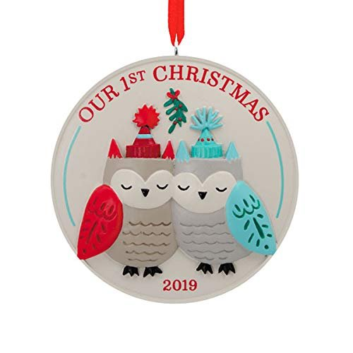 HMK Hallmark Our First Christmas Dated 2019 Tree Trimmer Ornament