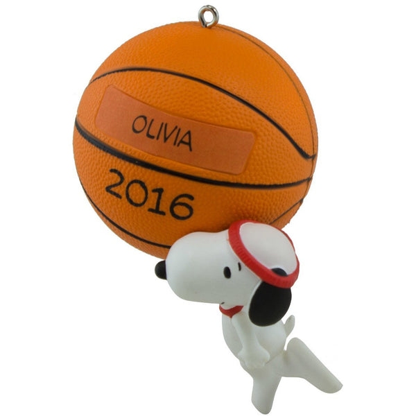 Hallmark 2016 Christmas Ornament Slam Dunk Snoopy Basketball Ornament
