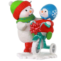 Hallmark Keepsake Christmas Ornament 2020, Making Memories Snowmen Trying Out the New Trike