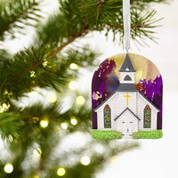 Hallmark Christmas Ornaments, Hallmark Mahogany Church Ornament