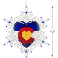 Hallmark Keepsake Christmas 2019 Year Dated Only One Colorado Snowflake Ornament, Metal and Glass