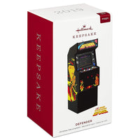 Hallmark Keepsake Christmas Ornament 2019 Year Dated Defender Arcade Game with Light and Sound,