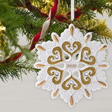 Hallmark Keepsake Christmas Ornament 2020 Year-Dated, Snowflake, Porcelain