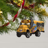 Hallmark Keepsake Christmas Ornament 2019 Year Dated Disney/Pixar Cars 3 Miss Fritter School Bus with Sound