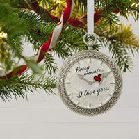 Hallmark Keepsake Christmas Ornament 2018 Year Dated, Our First Christmas Time for Love Pocket Watch Metal