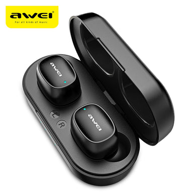 AWEI T13 Bluetooth Earphones 5.0 Wireless Waterproof Touch Mini Earbuds