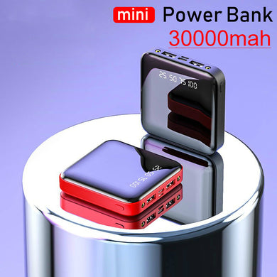 Mini 30000mAh Power Bank Dual Usb Ports External Battery Poverbank Portable