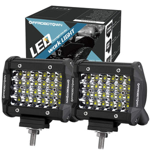 LED Pods, 4'' 144W QUAD Row LED Light Bar OSRAM Work Light