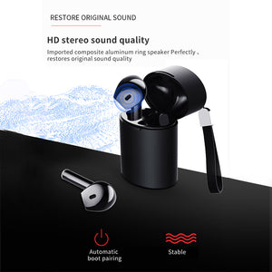 X10 V5.0 Bluetooth Auto Pairing Stereo Bass Earphone Wireless IPX5 Waterproof Touch Earbuds Headset Portable Strap Charge Case
